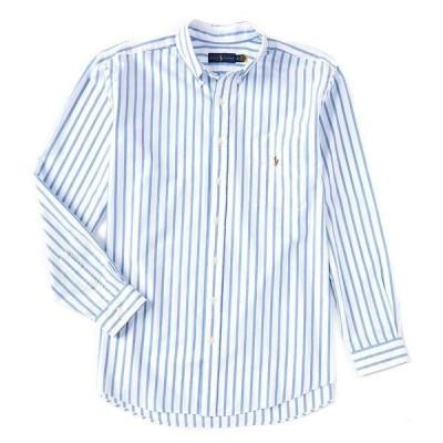 ラルフローレン メンズ シャツ トップス Big & Tall Striped Cotton Oxford Long-Sleeve Woven Shirt Blue/White