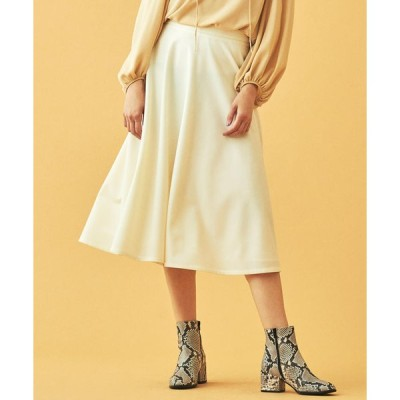 【TOMORROWLAND】ウールフラノ サーキュラースカート