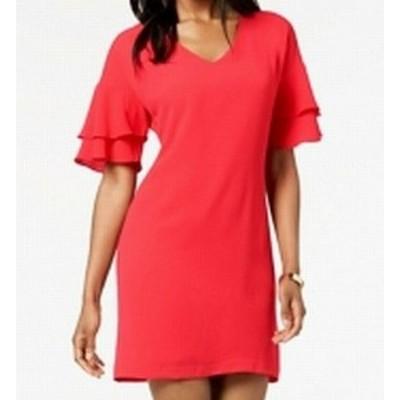 Jessica Howard ジェシカハワード ファッション ドレス Jessica Howard NEW Pink Womens Size 10P Petite Tiered Shift Dress