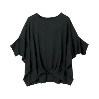 (Ranan/ラナン)切替ドルマンTシャツ/レディース ブラック