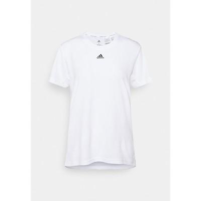 アディダス シャツ レディース トップス NECESSI TEE - Print T-shirt - white/black