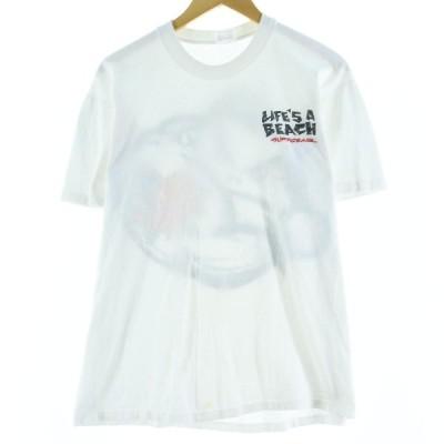 80〜90s ライフズアビーチ Tシャツ USA製 メンズL /eaa077431