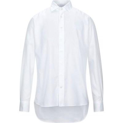 エトロ ETRO メンズ シャツ トップス solid color shirt White