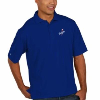 Antigua アンティグア スポーツ用品  Antigua Los Angeles Dodgers Royal Blue Desert Dry Xtra-Lite Team Polo