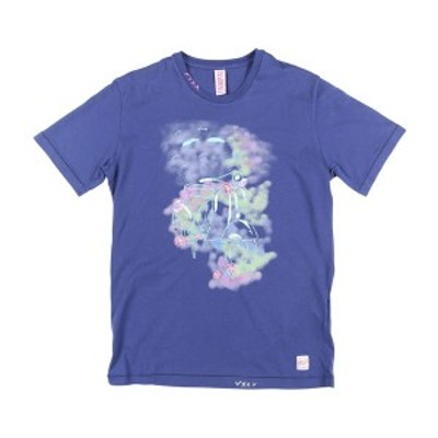 BOB(ボブ) Uネック半袖Tシャツ GENIUS ブルー S 24911bl 【S24911】