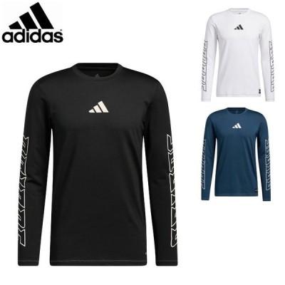 アディダス メンズ 長袖 シャツ トップス ロングスリーブシャツ ロンT Tシャツ 野球 ベースボール 運動 スポーツウェア トレーニングウェア adidas JLT60