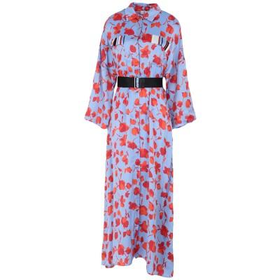 SFIZIO ロングワンピース&ドレス パステルブルー 46 レーヨン 100% ロングワンピース&ドレス