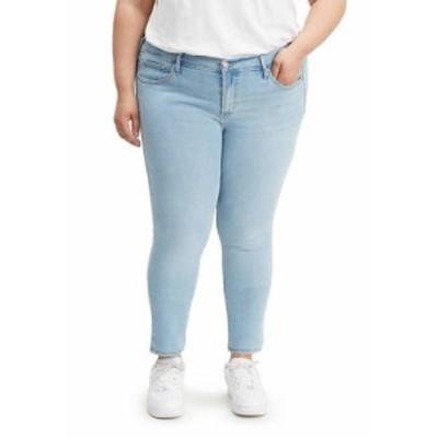 リーバイス レディース デニムパンツ ボトムス 711 Plus Size Skinny Sidetracked Jeans Blue