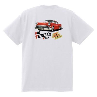 アドバタイジング ビュイック 267 白 Tシャツ 黒地へ変更可能 1957 スーパー リビエラ センチュリー ロードマスター オールディーズ