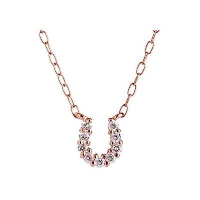 [キャーロ ディ ディアマンテ] ダイヤモンド 0.07ct ピンクゴールド K10 ネックレス CHD0005