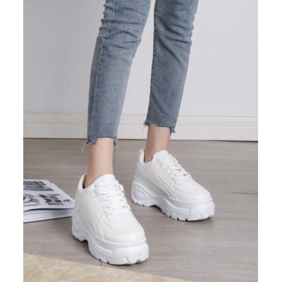 Shoes in Closet -シュークロ- / 厚底 シンプル ダッドスニーカー《約6.5cmソール》1966/1488 WOMEN シューズ > スニーカー