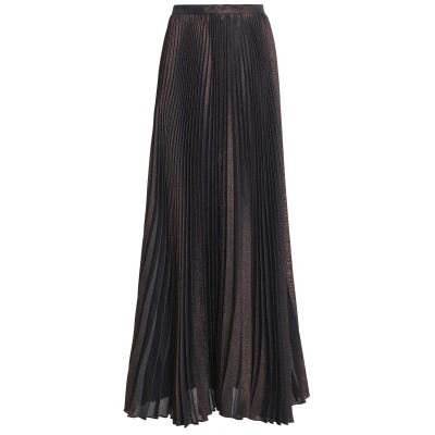 REEM ACRA ロングスカート ディープパープル 2 シルク 63% / ポリエステル 37% ロングスカート