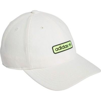 アディダス adidas Originals メンズ 帽子 Originals Relaxed Lowtide Core White/Signal Green