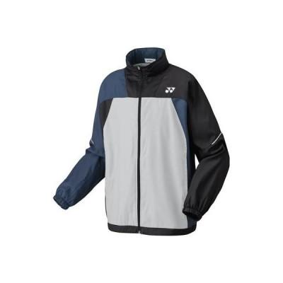 [ヨネックス] テニスウェア 裏地付ウィンドウォーマーシャツ [ユニセックス] 70069 シルバー/ブラック (417) 日本 S (日本サイズS相当)