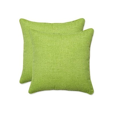 完璧枕装飾グリーンTextured Solid Square Toss枕、2- Pack