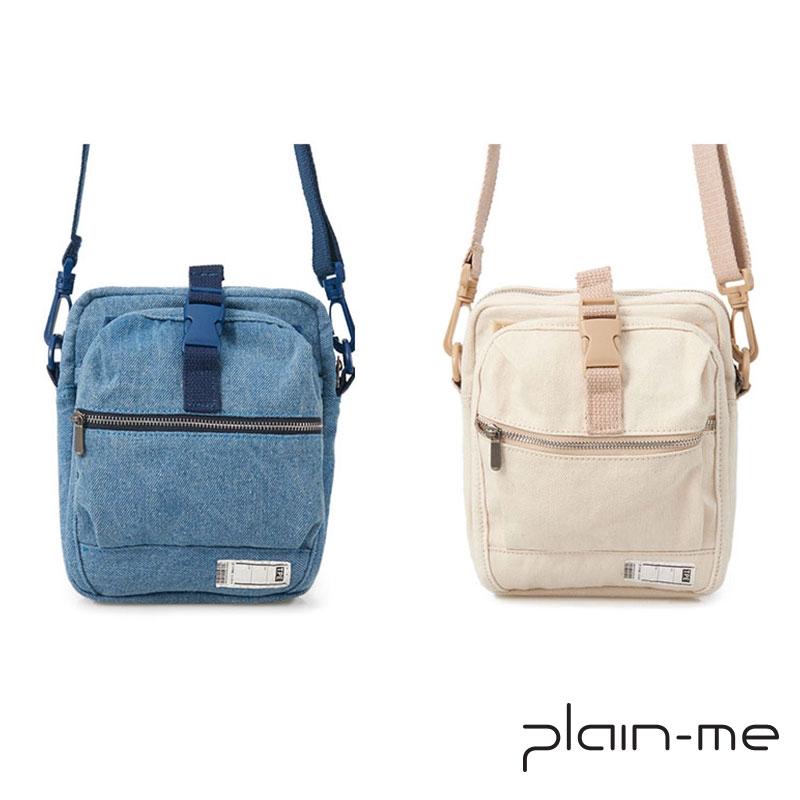 【plain-me】PM旅行小包丹寧款 (藍/白) COP3013