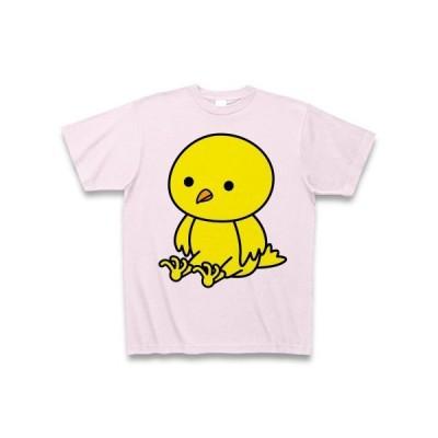 お座りひよこ Tシャツ(ピーチ)