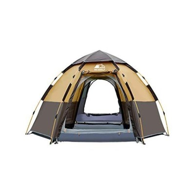 JYLJL Camping Tent, Hexagonal Automatic Double-Layer Outdoor Tent, Waterproof, UV-Proof, Breathable and Comfortable, Suita