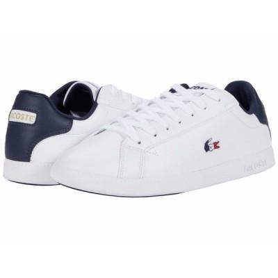 ラコステ スニーカー シューズ メンズ Graduate Tri 1 White/Navy/Red