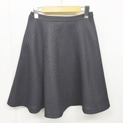 【中古】トッカ TOCCA 美品 フレアスカート メッシュ ひざ丈 灰 グレー 0 IBS74 0912 レディース