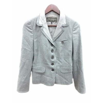 【中古】ボディドレッシングデラックス BODY DRESSING Deluxe ジャケット テーラード 総裏地 ウール シルク 9 グレー