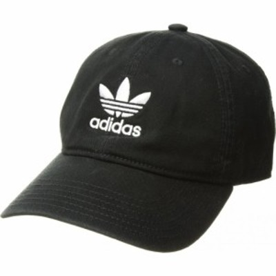 アディダス adidas Originals メンズ キャップ スナップバック 帽子 Originals Relaxed Strapback Hat Black/White