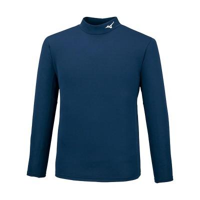 ミズノ(MIZUNO) メンズ レディース ブレスサーモシャツ ハイネック ドレスネイビー 32MA0742 14 長袖 インナー トレーニング スポーツウェア トップス Tシャツ