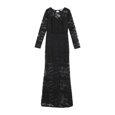 DANITY ロングワンピース&ドレス ブラック S ポリエステル 100% ロングワンピース&ドレス