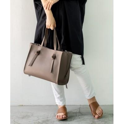 VitaFelice / 結びハンドルサイドジップトートバッグ WOMEN バッグ > トートバッグ