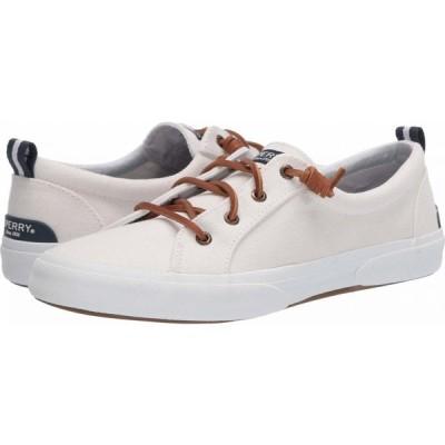 スペリートップサイダー Sperry レディース スニーカー シューズ・靴 Pier Wave LTT Canvas White 2