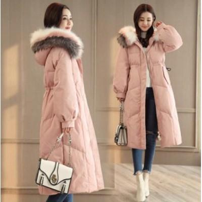 ロングコート 全3色 中綿コート レディース ファー付き フード付き ダウン風コート ジャケット コート あったか 厚手 体型カバー お洒落