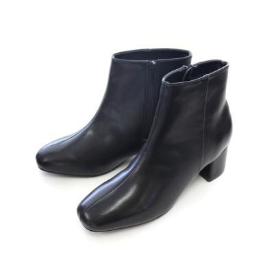 AmiAmi / 《2020年秋冬新作》内側ボアスクエアトゥショートブーツ WOMEN シューズ > ブーツ