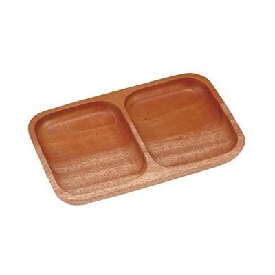 キャプテンスタッグ(CAPTAIN STAG) 木製 食器 プレート 角型 仕切りプレート2 ウッドブレス UP-2608