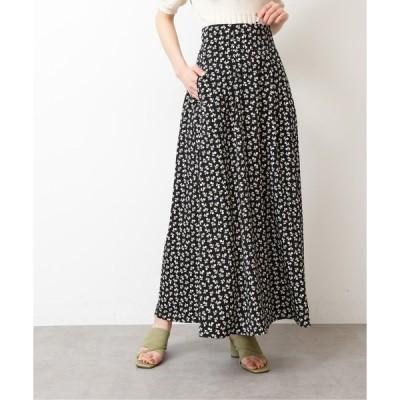 スカート ◆レトロフラワーマキシスカート