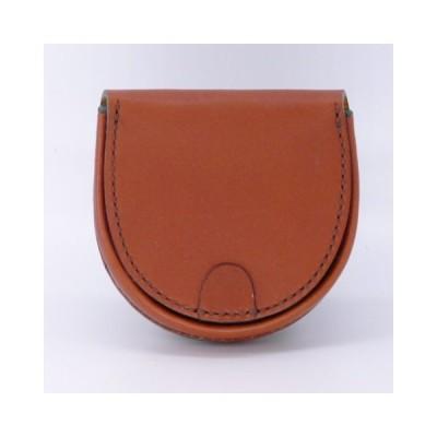 馬蹄型コインケース 牛革製小銭入れ ハンドメイド 手縫レザークラフト SHOW工房