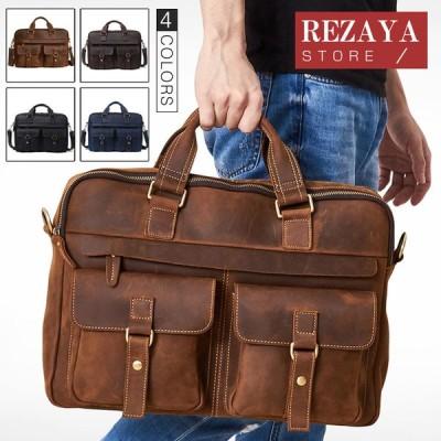 ハンドバッグ トートバッグ メンズ 本革 2way 手提げバッグ ショルダーバッグ レザー 手提げ 斜めがけ ビジネスバッグ 通勤通学 鞄