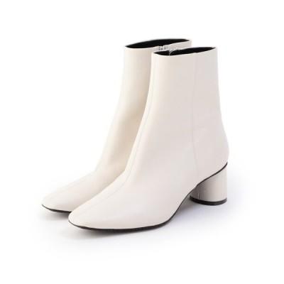 ブーツ スクエアショートブーツ