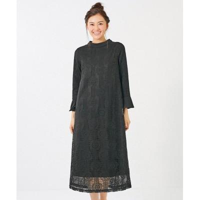 大きいサイズ 総レースワンピース(アリスバーリー)(オトナスマイル) ,スマイルランド, ワンピース, plus size dress