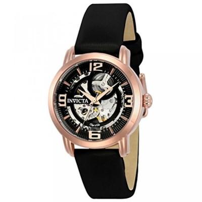 インビクタ 腕時計 レディースウォッチ Invicta Women's 'Objet d'Art' Automatic Stainless Steel and Satin Casual Watch, Color:Black (Model: 22656)