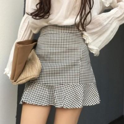 かわいい裾フレアミニスカート♪ 2017 秋冬春 URKTK0562
