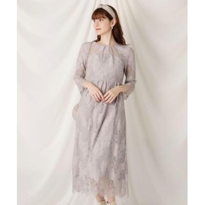 Couture Brooch(クチュールブローチ) コットン(綿)ブレンドレースワンピース