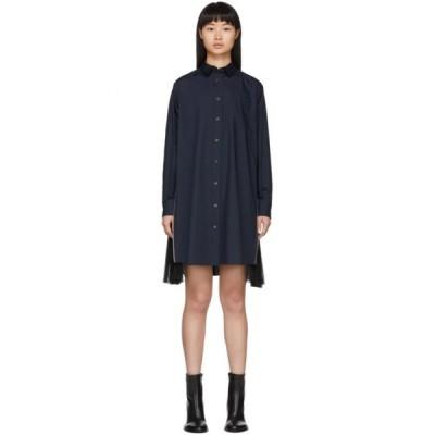 サカイ Sacai レディース ワンピース シャツワンピース ワンピース・ドレス Navy Poplin Shirt Dress Navy