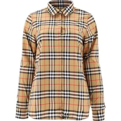 バーバリー Burberry レディース ブラウス・シャツ トップス Vintage Check shirt Beige