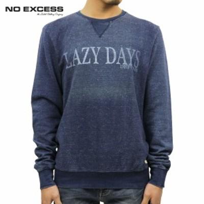 ノーエクセス NO EXCESS 正規品 メンズ セーター Sweater R-neck Real indigo chest print 110252 33  父の日 ギフト プレゼント