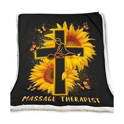 zart Massage Therapist Sunflower Butterfly Blanket Adult並行輸入品