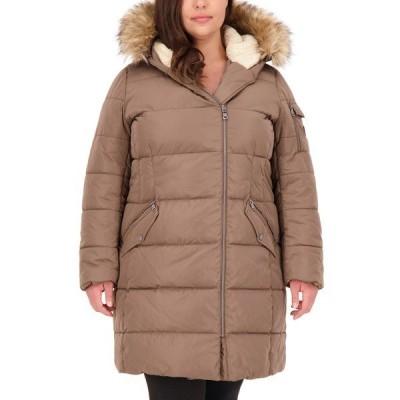 ヴィンスカムート コート アウター レディース Plus Size Faux-Fur-Trim Hooded Puffer Coat Mink