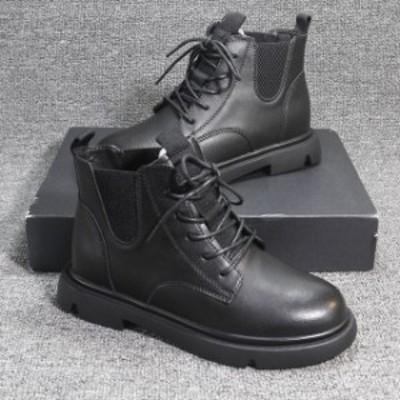 冬靴 レディース 冬新作 ショートブーツ レディース ローヒール 歩きやすい 痛くない かわいい 韓国 ジップ 太ヒール サイドゴア サイド