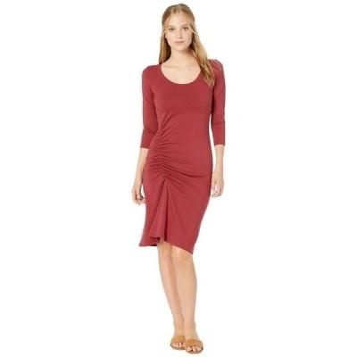 マイケルスターズ レディース ワンピース トップス Cotton Lycra Tina 3/4 Sleeve Ruched Dress