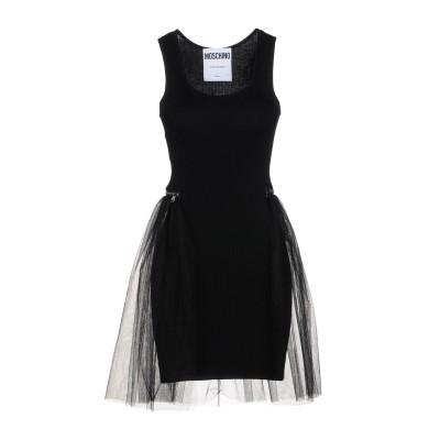 モスキーノ MOSCHINO ミニワンピース&ドレス ブラック 40 100% ナイロン ミニワンピース&ドレス