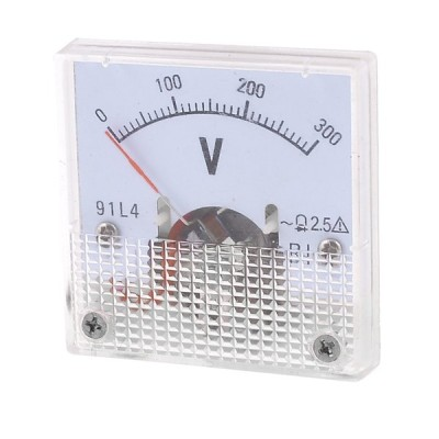 uxcell アナログ電圧計 アナログ電圧パネルメーター 精度クラス2.5 91L4 AC 300V